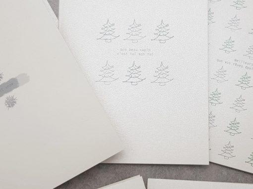 Cartes de vœux minimalistes